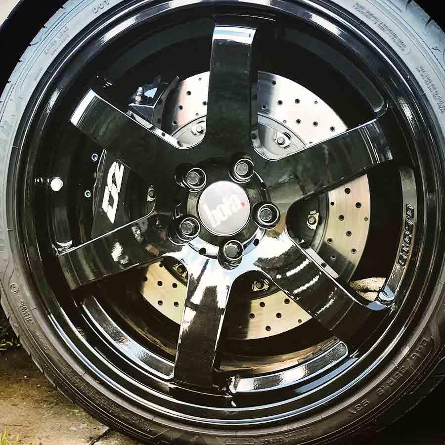 Bola black wheels on Turbo X