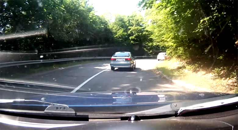 POV video: Two Tuned Saab cars, Mountain Road Drive
