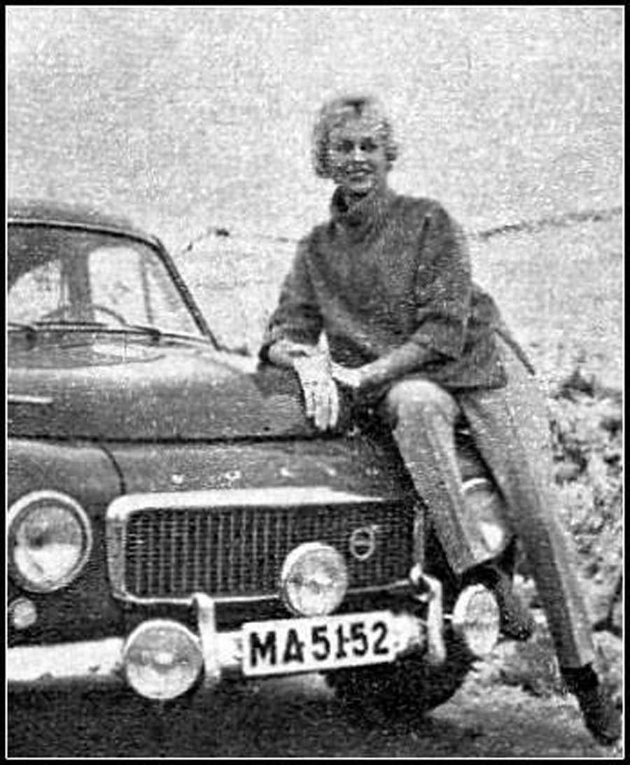 Volvo PV544 Sport, Ewy Rosqvist / Ursula Wirth, Rajd Monte Carlo 1962
