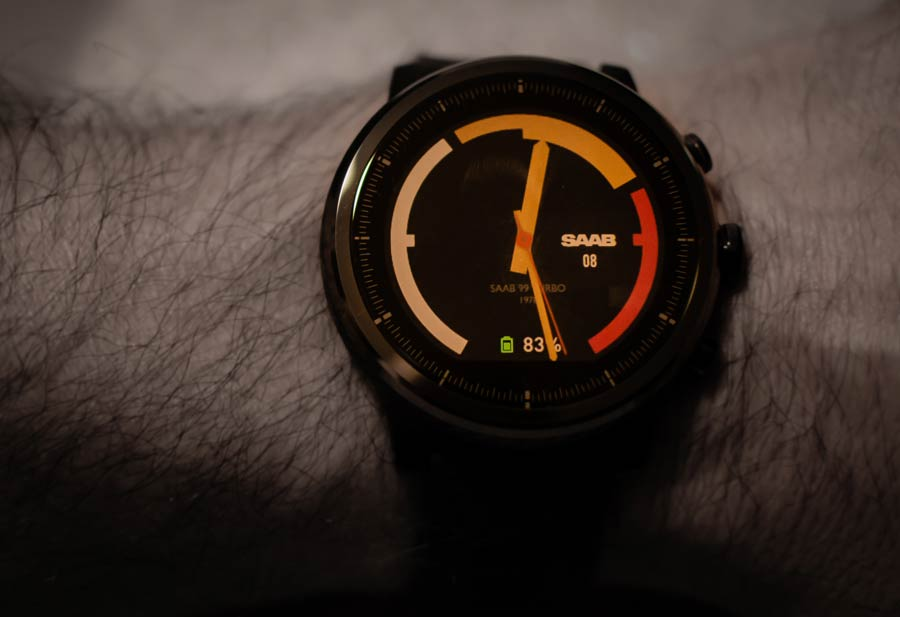 Watch Face design in Saab 99 Turbo style
