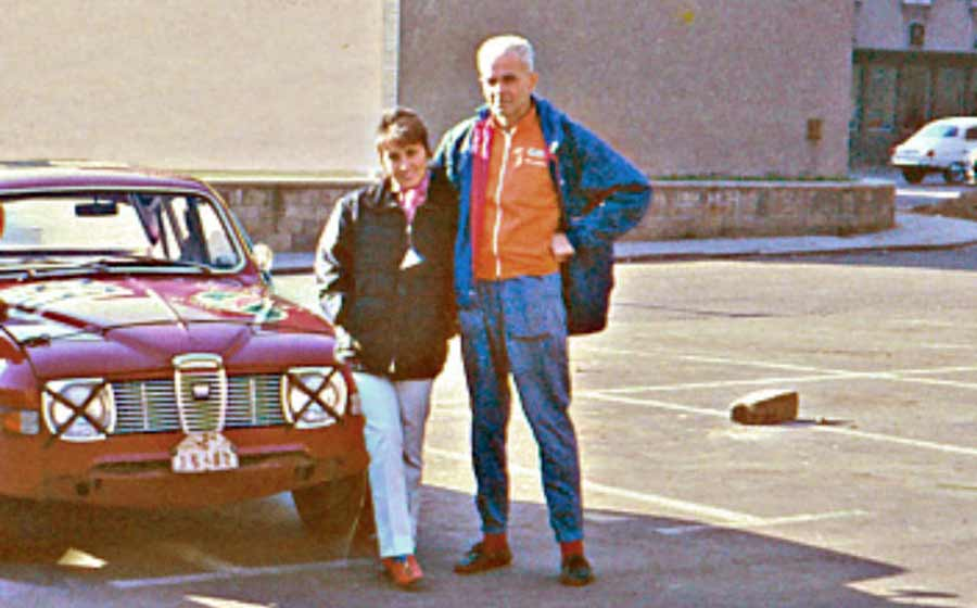 SAAB Club photo of Zdenek Treybal and his wife.