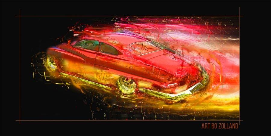 Saab 96 artwork