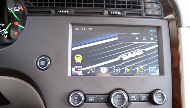 RoadNav S150 aftermarket Android multimedia in Saab 9-5 NG 2011