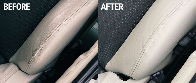 Saab seats after reparation