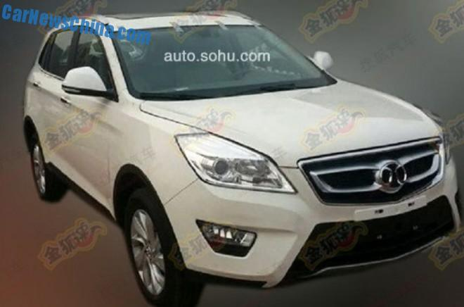 Spy Shots: Beijing Auto C51X - based on platform of the Saab 9-3