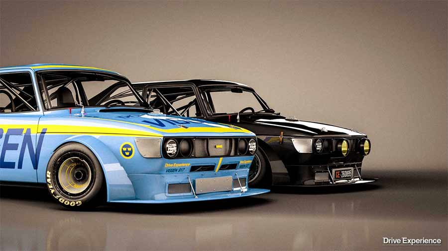 Black and blue - the basic model even after wearing Swedish livery