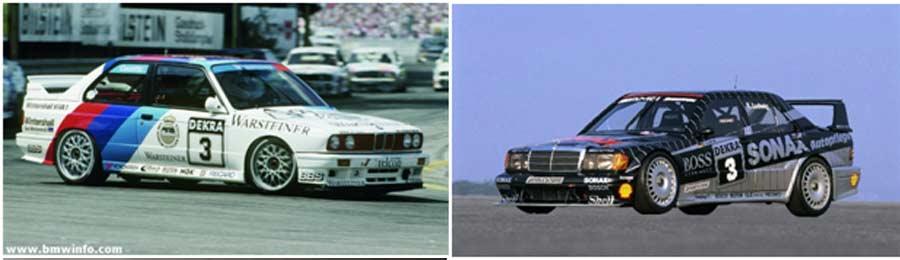 80's DTM BMW e30 and Mercedes 190e Evo