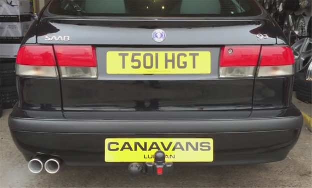 Saab custom stainless steel exhaust