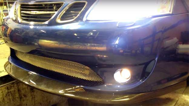 Saab Carbon Front Race Splitter
