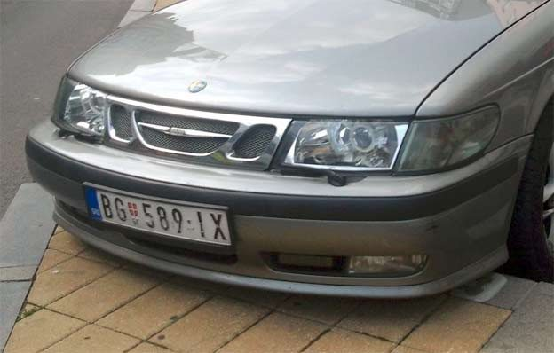 Chrome look Saab headlights