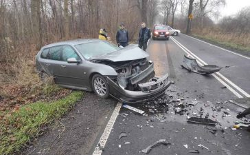 Crashed Saab 9-3 Wagon