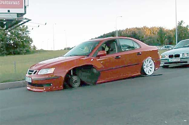 Crashed Saab 9-3