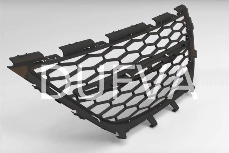 custom honeycomb grill for Saab 9-3 2008+