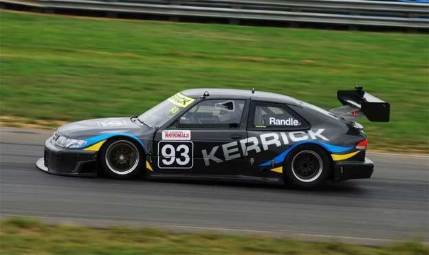 Dean Randle's  Saab 9-3 Aero on racetrack