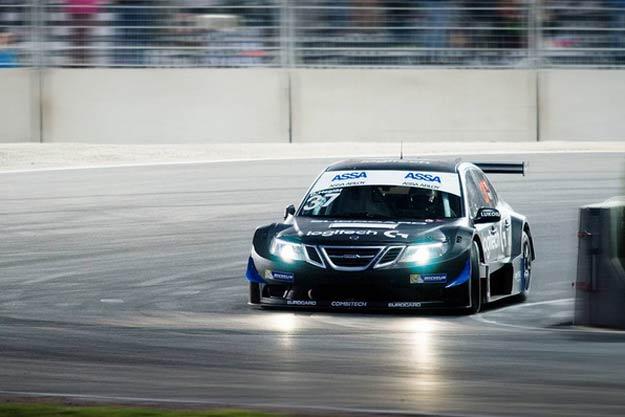 Daniel Haglof in Saab 9-3 STCC