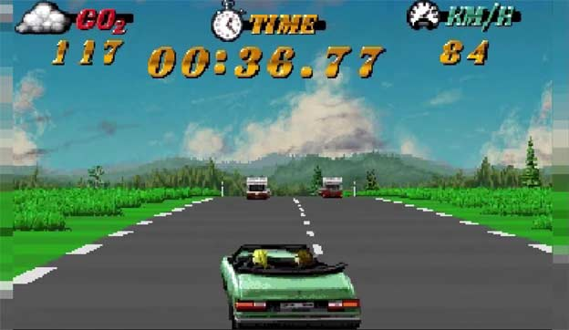 Eco Run Arcade game with Saab 900