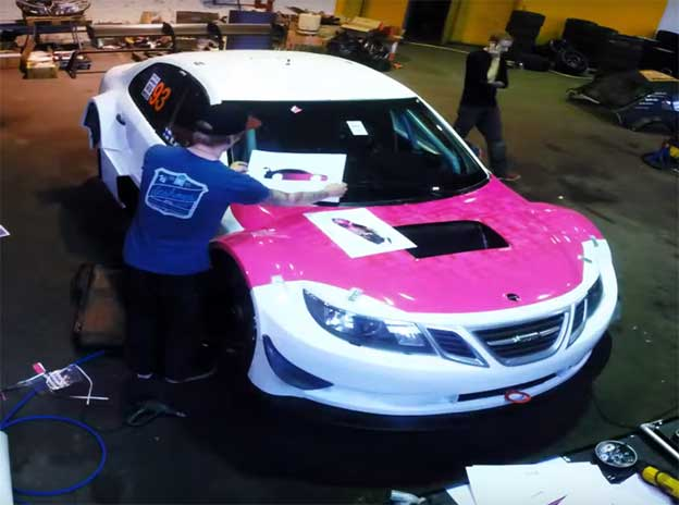 Wrapping Emma's Kimiläinen car – STCC 2015