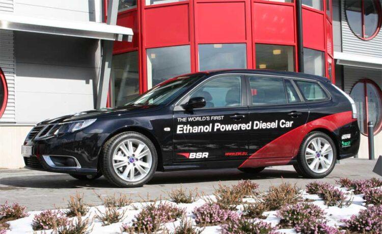 Ethanol Powered Saab Diesel car