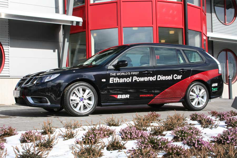 Ethanol Powered Saab Diesel car