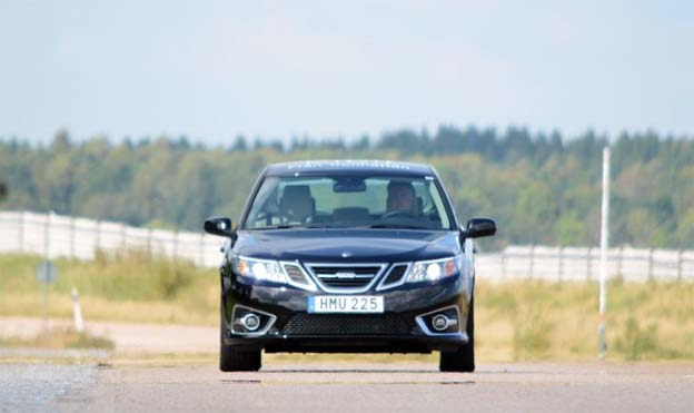 First test drive of Saab 9-3 EV