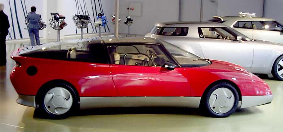 The concept car Saab EV-1 from 1985, photo by Tubaist