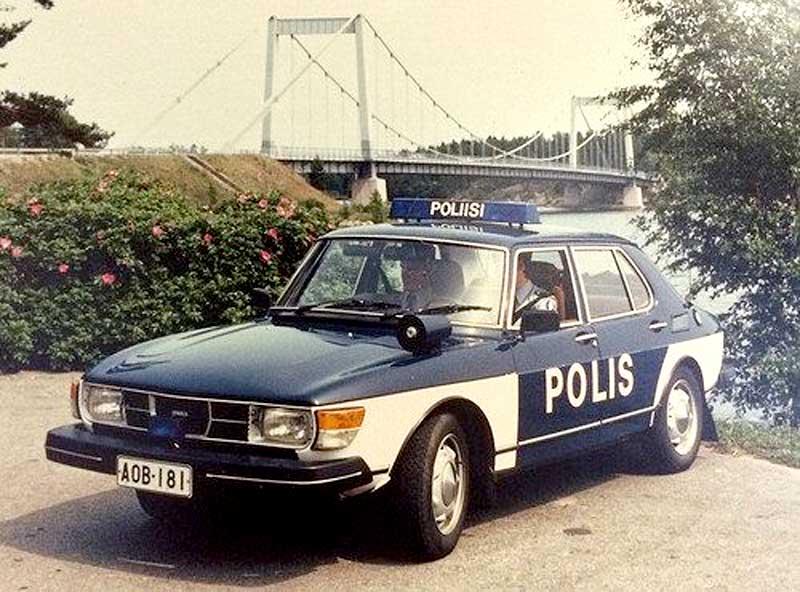 Finland Police Saab