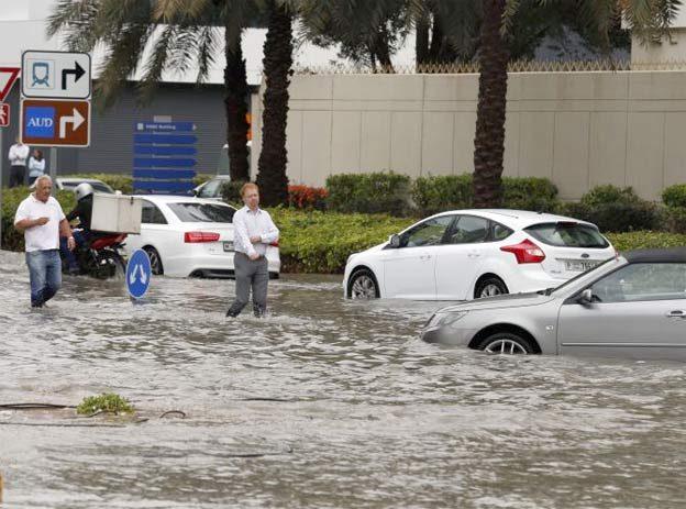 Flooded Saab 9-3