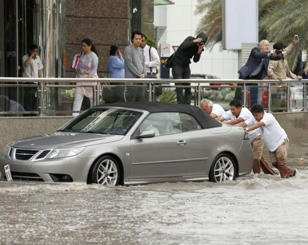 Flooded Saab 9-3 Convertible