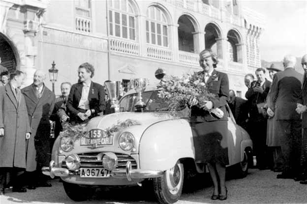 Greta Molander and Helga Lundberg win the Ladies Cup in the Monte Carlo Rally.