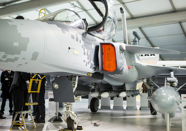 Saab's Gripen E fighter jets are to be equipped with missile eject launcher pylons from Exelis