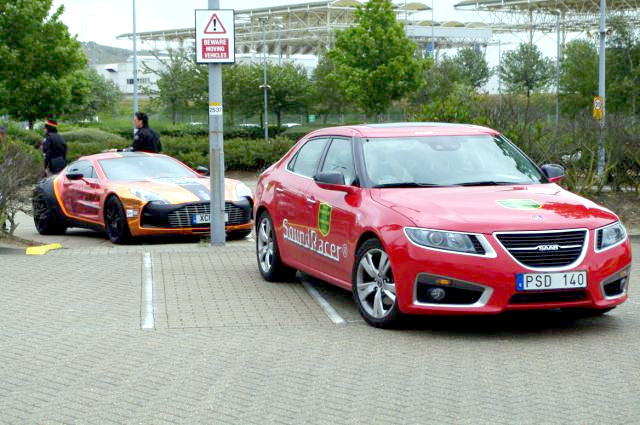 Saab 9-5 at the Gumball 3000