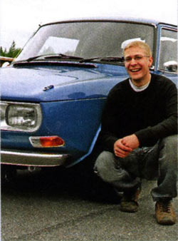 Gustav Nilsson with his Saab 99 Quattro