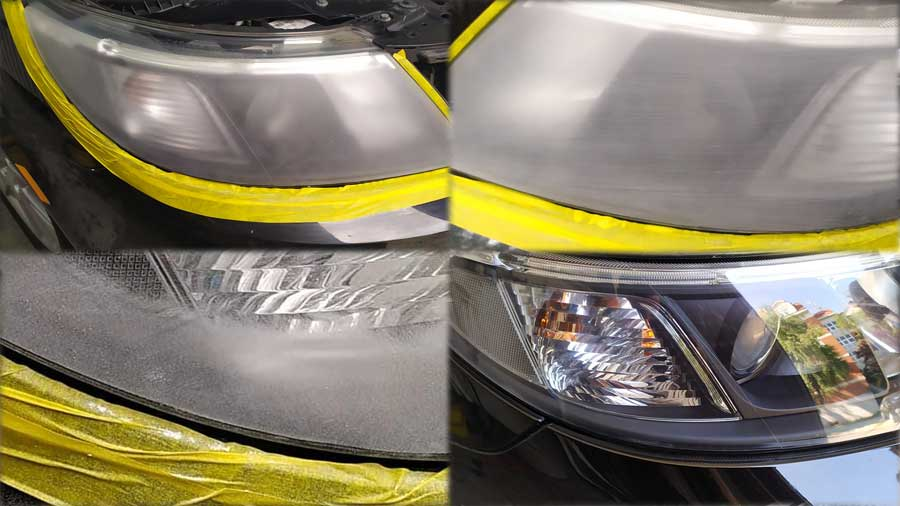 Headlight Restoration Process