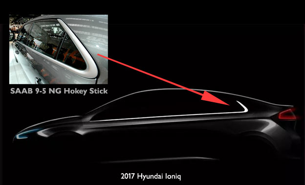 Hyundai copied Saab hokey stick