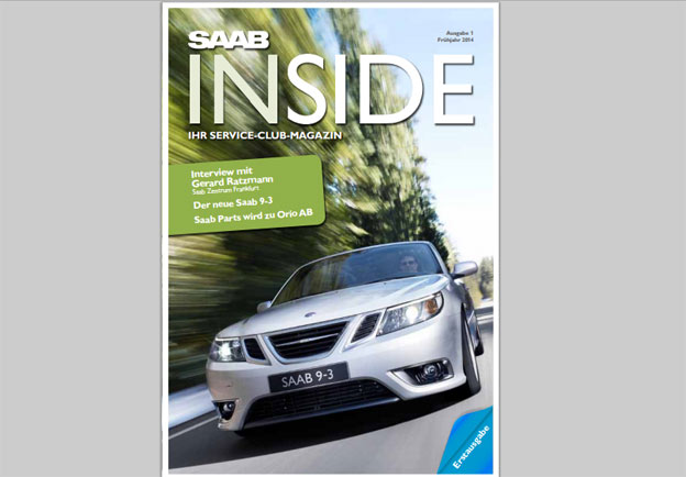 "First Issue of new Saab magazine ""Inside SAAB"""