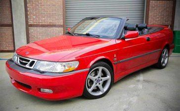 laser-red Saab Viggen