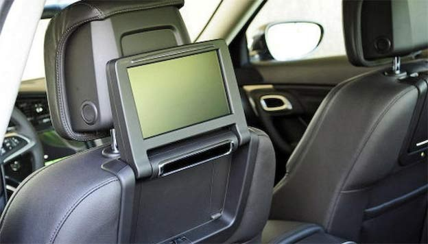 Saab 9-5 Aero - LED displays in front seats