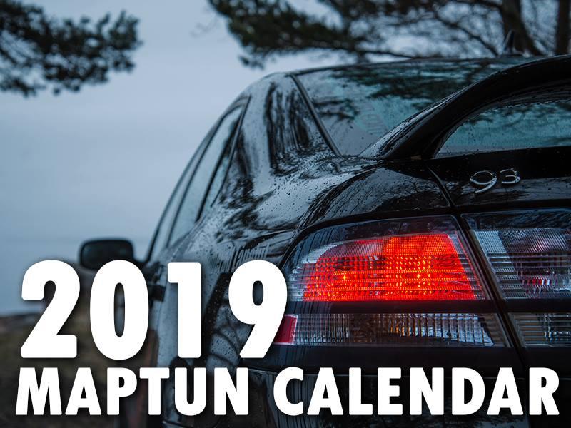Maptun Saab 2019 Wall Calendar