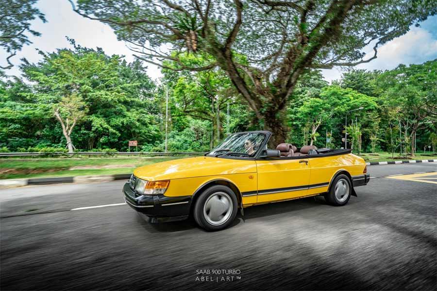 Monte Carlo Yellow Saab 900 Turbo