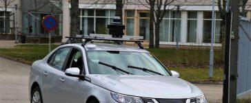 The autonomous NEVS 9-3 registered for (test) public transport