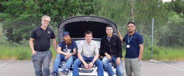 NEVS 9-3 - NEVS development team: John Andersson, Benny Sondell, Radecki Przemyslaw, Frank Zhang and Deepak Singh