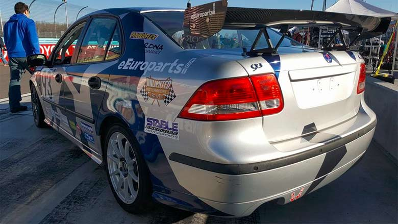 new eEuro Saab 9-3 Race Car