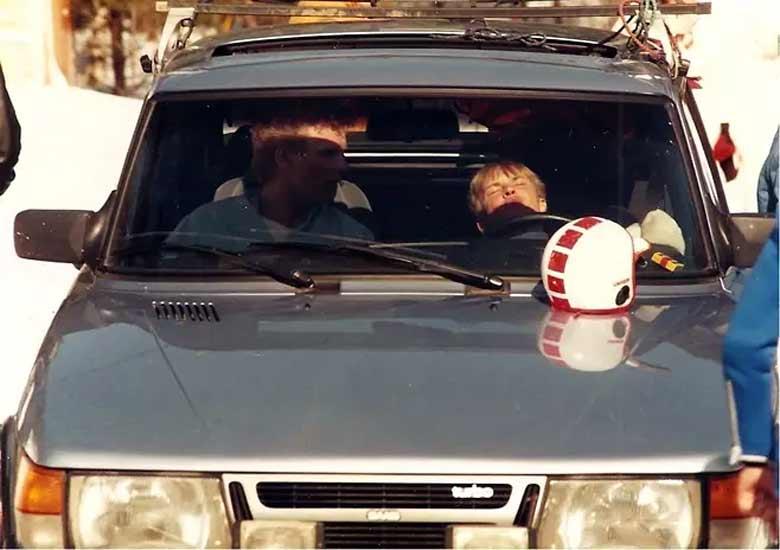 Nikenen and his Saab 900 Turbo