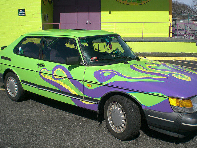 Octopus Saab 900 Turbo Art Car