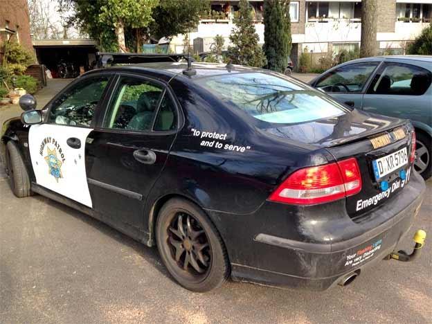 Saab 9-3 Police car