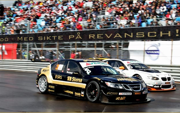 Saab 9-3 in 7 races of this year's STCC Championship!