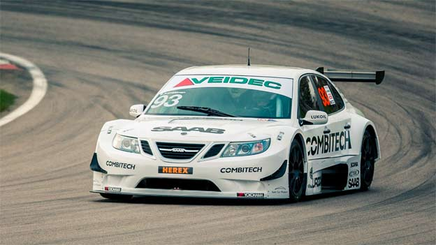 Saab in first ever twilight STCC race