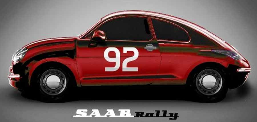 The Rally Saab 92 by Carl Fredrik Holtermann