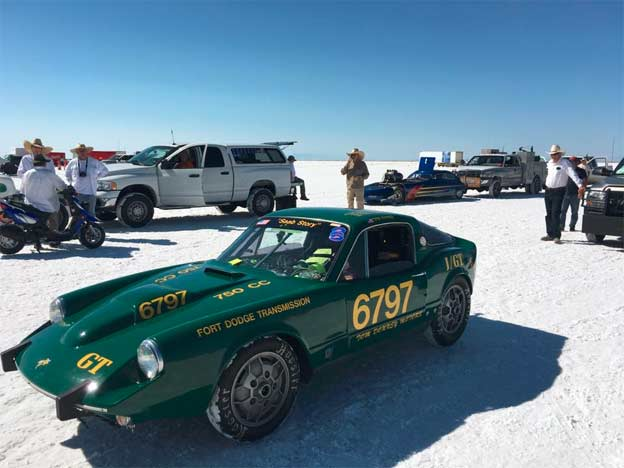 Tom Donney achieved new records in a SAAB at Bonneville Salt Flats