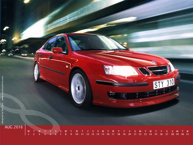 Red Saab 9-3 wallpaper